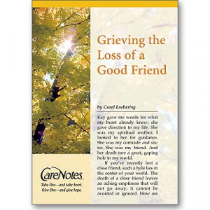 Home »Grieving the Loss of a Good Friend