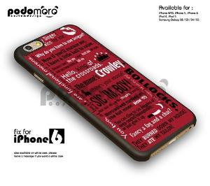 BD 273 Supernatural Crowley Quotes - iphone 6 by Jessie mila