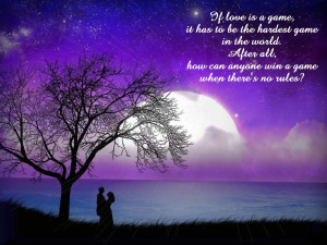 But all that I know if love is love, I love you my lovely lavender ...