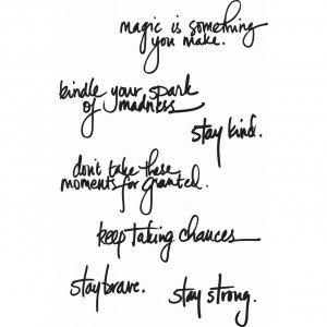 Ranger Media Cling Stamps, Handwritten Quotes by Dina Wakley
