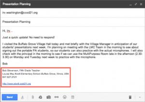 Gmail Signature Example 1--Classroom teacher