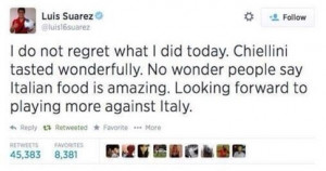 SHOCKING: Luis Suarez completes his hat-trick of bites - Ajax ...