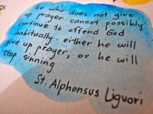 quote st alphonsus liguori on the relgious life | catholic # quotes ...