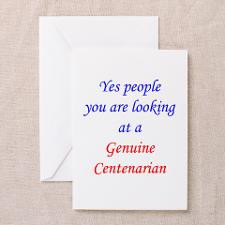 Genuine 100 year old 2 Greeting Card for