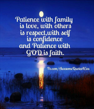 ... is respect; with self is confidence; and Patience with GOD is faith