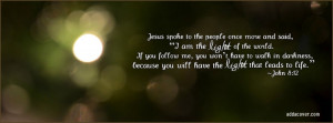 Bible Verse Facebook Cover Photo Jesus quote facebook cover