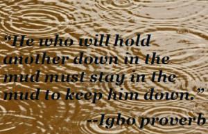 the mud…