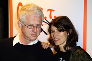 Bella Freud UK TABLOID NEWSPAPERS OUT Richard Curtis and Bella Freud