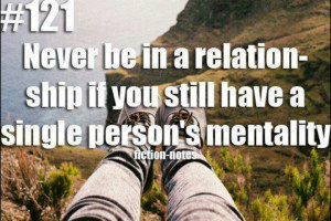 Single Person's Mentality