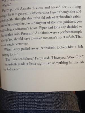 , book, fandom, love, percy jackson, piper, quote, rick riordan ...