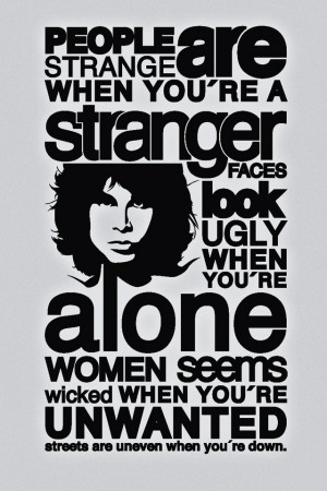 People Are Strange Quotes Wallpaper - Jim Morrison iPhone 4 Wallpaper
