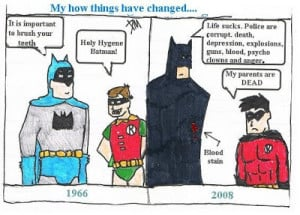 Funny BATMAN AND ROBIN Humor Comic Strip by Danica!