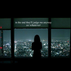 It's true...judgment is unavoidable...