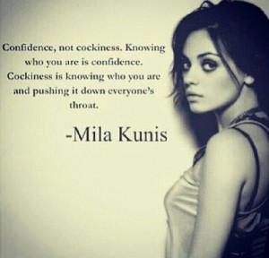 Confidence versus cockiness