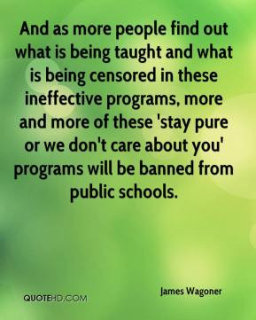 - And as more people find out what is being taught and what is being ...