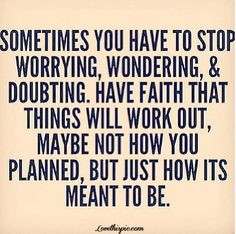 ... not what we have planned but we will make it through the tough times