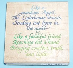 Rubber Stamp ~ Lighthouse Poem ~ $9.99