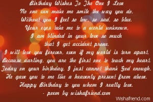 Birthday Wishes To The One I