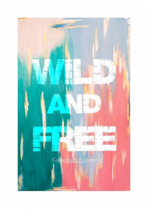 Bohemian Quote Print - Indie Gypsy Wild Print - 11 X 14 Quote Art ...