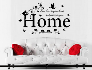 Love in heart peace in your home Wall Sticker
