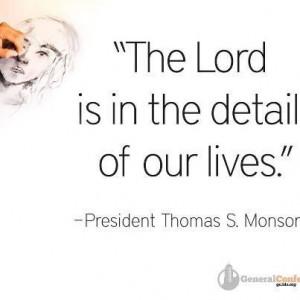 President Monson.....quote
