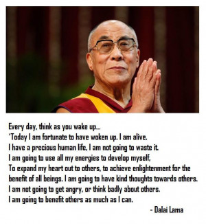 Dalai Lama morning meditation
