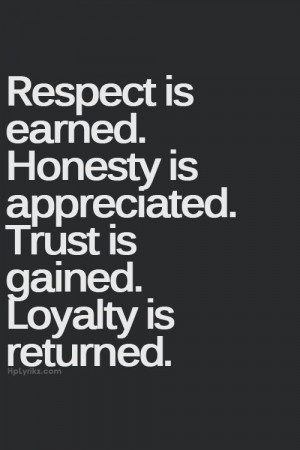 honesty, inspiration, loyalty, quotes, respect, trust