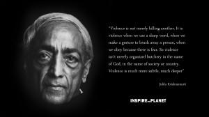 Krishna Non Violence J Krishnamurti Quote Wallpaper with 2560x1440 ...