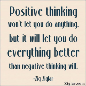 ... let you do everything better than negative thinking will.