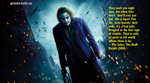 The Dark Knight 2008 Joker Quotes Picture