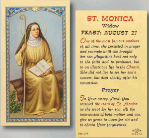 saint monica prayer card