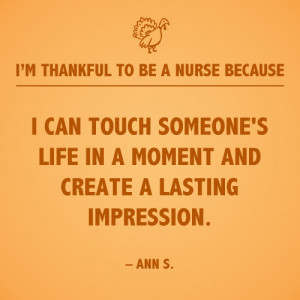 can touch someone's life in a moment and create a lasting impression ...
