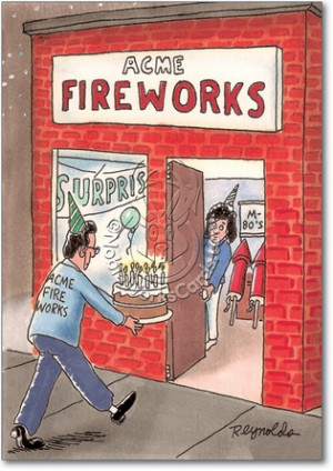 Fireworks Adult Humor Birthday Greeting Card Nobleworks