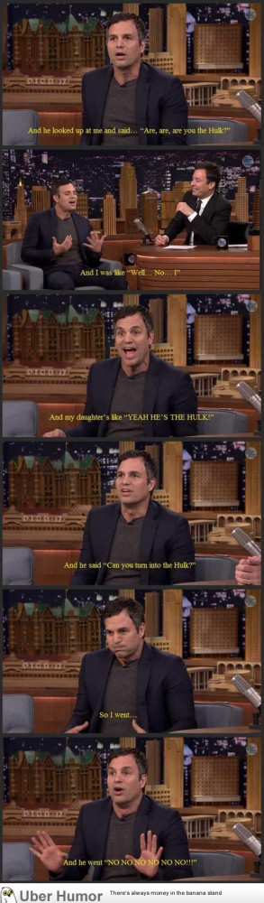 Mark Ruffalo about taking his daughter to preschool.