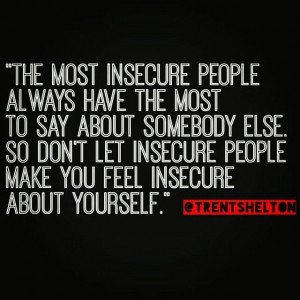 Insecure people~