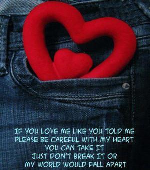 Dont Break My Heart Quotes Don t Break My Heart