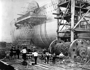 1858. The Great Eastern, designed in part by Isambard Kingdom Brunel ...