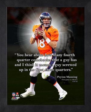 ... Peyton Manning. A perfect example of the #broncos #QB and his