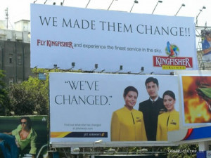 Indian Airlines Hoarding Board War – Funny
