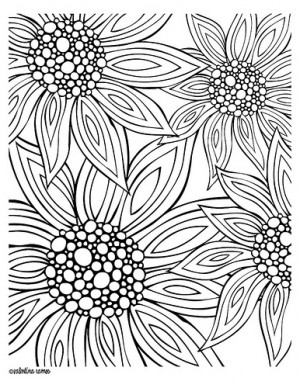 Zentangle Flower Coloring Pages