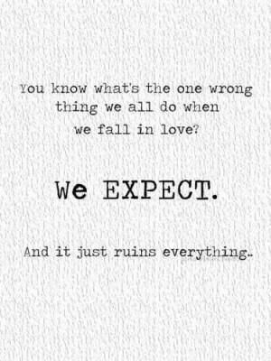 No expectations!!