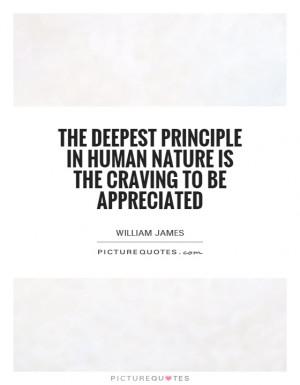 Appreciation Quotes William James Quotes