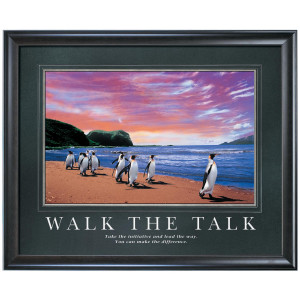 Walk the Talk Motivational Poster (733095)