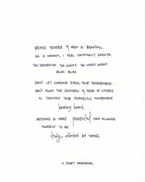 INSPIRATION : Tenderness