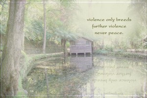violence quotes, Violence only breeds further violence never peace.