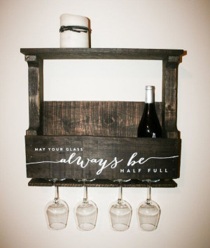 Reclaimed Pallet Wood Wine Rack Small — Personalized with Quote May ...