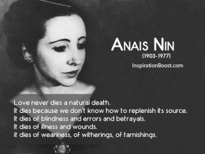 Anais Nin Love Quotes