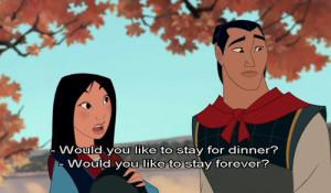 disney, love, movie quote, mulan
