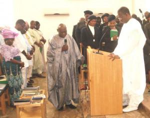 Former President Olusegun Obasanjo on Sunday made a dramatic ...
