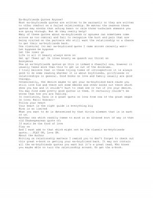 Ex Boyfriend Quotes | Quotes about Ex.